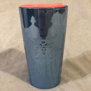Starbucks Blue Metallic Ceramic Tumbler